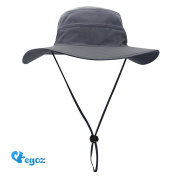 Egoz 'Coconut' Outdoors Sun Hat UV Protection Wide Brim Boonie Travel Cap Breathable Hunting Fishing Safari Sun Cowboy Hats