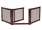 K & A Company Configurable Folding 3 Panel Wood Fence Dog 60cm Safety Pet Indoor Walk Barrier Gate Free Standing Wooden Over