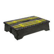 Portable Folding Riser Step With Safety Improvements - Reach Items With Ease - Grey And Yellow