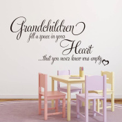 Dragon Honour Grandchildren Fill A Space Quote For Kids Room Living Room Vinyl Mural Wall Sticker Decals Decoration