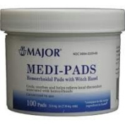 Medi-Pads Maximum Strength With Witch Hazel Hemorrhoidal Hygienic Cleansing Pads 100 Ct by Tucks Medicated Pads 3 Pack