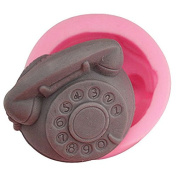3D Retro telephone Craft Art Silicone Soap mould Craft Moulds DIY Handmade Candle mould Chocolate Mould moulds