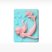 3D Mermaid Fish Craft Art Silicone Soap mould Craft Moulds DIY Handmade Candle mould Chocolate Mould moulds