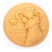 3D Christmas Stockings Craft Art Silicone Soap mould Craft Moulds DIY Handmade Candle mould Chocolate Mould moulds