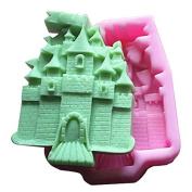 3D Castle FM378 Craft Art Silicone Soap mould Craft Moulds DIY Handmade Candle mould Chocolate Mould moulds
