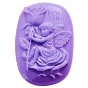 3D Rose Fairy Craft Art Silicone Soap mould Craft Moulds DIY Handmade Candle mould Chocolate Mould moulds