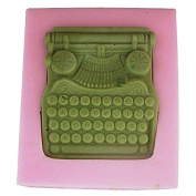3D Retro Typewriter Craft Art Silicone Soap mould Craft Moulds DIY Handmade Candle mould Chocolate Mould moulds