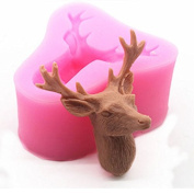 3D Deer Craft Art Silicone Soap mould Craft Moulds DIY Handmade Candle mould Chocolate Mould moulds