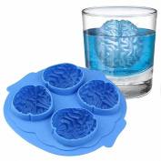 Halloween Brain Shape 3D Ice Silicone Mould Freeze Ice Cube Tray Cake Chocolate Soup Cream Mould Baking Decoration Tool