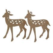 Homeford Bambi Laser Cut Ornaments, 10cm , 2-Piece
