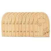 New 10pcs 70 x 105mm Carving Board Decorative Craft Wood