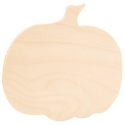 Wooden Cutout Extra Large Pumpkin 41cm X 34cm inches Unfinished Wood - Package of 2 - By Woodpeckers
