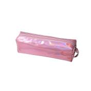 Frcolor Laser Pencil Case Cosmetic Bag Glitter Pen Storage Zipper Closure Portable Pouch for School Students