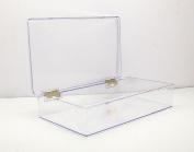 Clear Hinged Plastic Box 26cm L x 15cm W x 5.1cm H - 1 Piece Per Pack