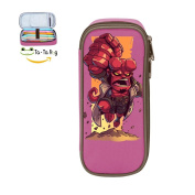 Ta-Ta Frog Big fist red iron man Unisex Canvas Cute Primary School Student's Pencil Case Pink