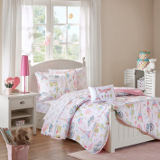 Mi Zone Kids Bonjour Complete Bed and Sheet Set Pink Twin