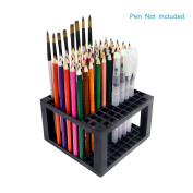 96 slots Pencil Holder - Desk stationery Standing Organiser Holder, Perfect for Pen/Pencil, Paint Brush, Gel Pen, and More by WeiBonD