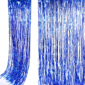 Shimmer Foil Glitter Metallic Backdrop Tinsel Curtain Fringe Wedding Party Decoration