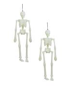 Spooky Bones Glow in the Dark Skeleton 46cm .