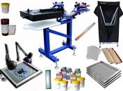 3 Colour 1 Station Screen Printing Full Kit Micro-registration Screen Printing Press the Flash Dryer UV Exposure Drying Cabinet Material Kit