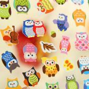 5 Sheet/lot New DIY Cute Kawaii Cartoon 3D Sponge Bubble Sticker Lovely owl for Kids Children Gift Toy