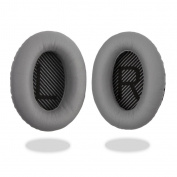 [REYTID] Bose QuietComfort 15 / QC15 / QC2 Headphones GREY Replacement Ear Pads Cushion Kit - 1 Pair Earpads