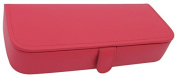 Rectangular Shaped Jewellery Box with 7 Compartments, Raspberry
