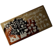Christmas DIY Nail Art Image Stamp, Lovely Stamping Plates Manicure Template