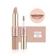12 Colours Matte Lipstick Women 2 in 1 Velvet Lip Gloss Double-End Makeup Cosmetic by ESCENERY