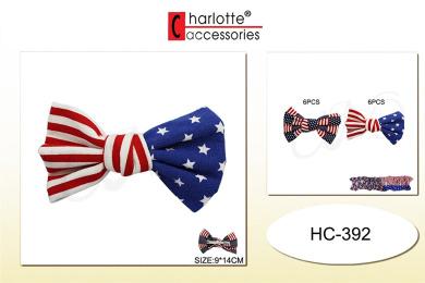 Crispy's 12 Pcs Multi Design Hair Clip For Kids, Party Favour, Goody Bag Filler, Gift, Prize (USA FLAG)