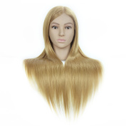 Synthetic Hair Professional Styling Mannequin Head For Hairdresser Wig Hairdressing Dummy Doll Head Training Heads