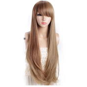 sunshine Susie Natural soft Straight Long Wig Cosplay Costume Wig With Free Wig Cap