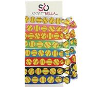 Softball Hair Accessories, Girls Softball Hair Ties, Perfect Gift for Softball Player and Softball Teams
