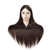 Mannequin Head Hair Styling Training Head Manikin Cosmetology Doll Head Synthetic Fibre Hair