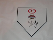 Adam Wainwright Signed Home Plate St. Louis Cardinals 2006 World Series Proof - MLB Autographed Miscellaneous Items