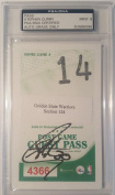 Stephen Curry Signed Autographed Pass MINT 9 AUTO - PSA/DNA Certified - NBA Autographed Miscellaneous Items