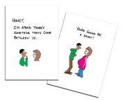 Dad's Castle Pregnancy Announcement - You're Going to be a Daddy Card, Ethnic Mixed Race Couple
