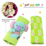 Infant and Baby carseat strap covers for travel and comfort, plus protection from strap burn in carseat and strollers