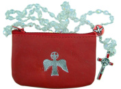 Confirmation Girls Rosary Gift Set with Leather Rosary Case