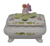 Fairy Sitting On Handpainted Ceramic Tooth Fairy Box
