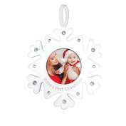 Tiny Ideas Rhinestone Snowflake Holiday Ornament, Baby's First Christmas
