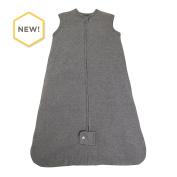 Burt's Bees Baby - Beekeeper Wearable Blanket, 100% Organic Cotton, Basic Heather Grey