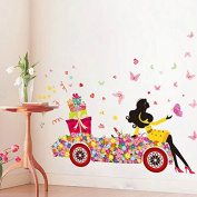 100cm x 130cm DIY Butterfly Flower Wall Stickers Art for Girl Car Kids Rooms Home Decor Bedroom Living Room Wall Decoration Wall Decals Poster