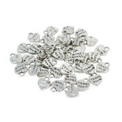 100pcs/lot Cameo Alphabet Letters Thank You Hearts Charms 1012mm