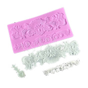 Anyana Vintage Decorative Pattern Silicone Fondant Mould Cake Decorating Pastry Gum Pastry Tool Kitchen Tool Sugar Paste Baking Mould Cookie Pastry