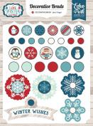 Echo Park Paper Company ILW115020 I Love Winter Decorative Brads