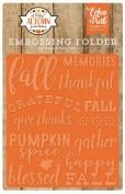 Echo Park Paper Company APA132031 Embossing Folder-Happy Fall