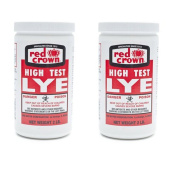 Red Crown Lye 0.9kg (2 Pack) - High Test Lye for Making Award-winning Handcrafted Soaps