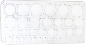 Clear Plastic Circle Template For Math or Art Students, Or For Crafting- 10 x 13cm - 0.6cm