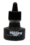 Higgins Pigmented Drawing Ink, Brown, 30ml Bottle